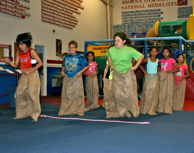 Birthday Sack Races